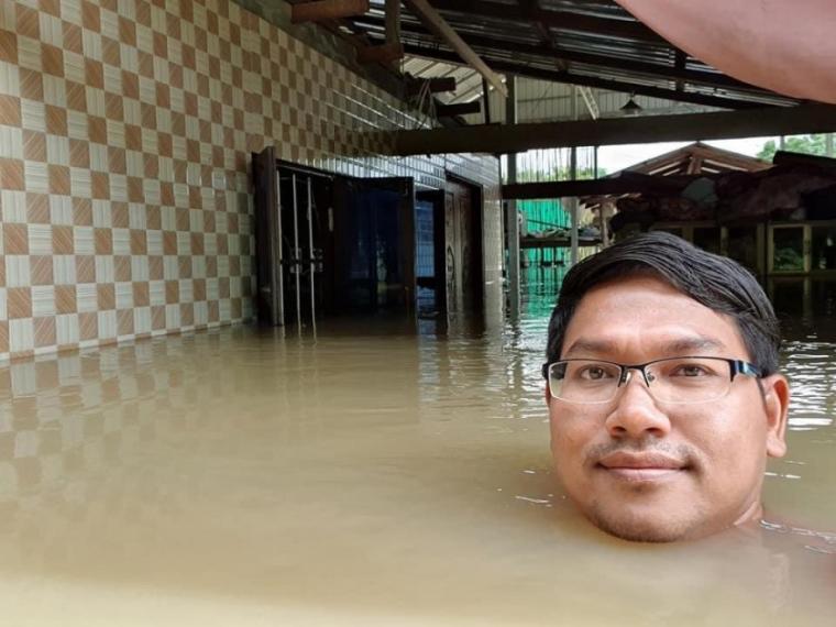 홍수로 난리난 캄보디아 풍경