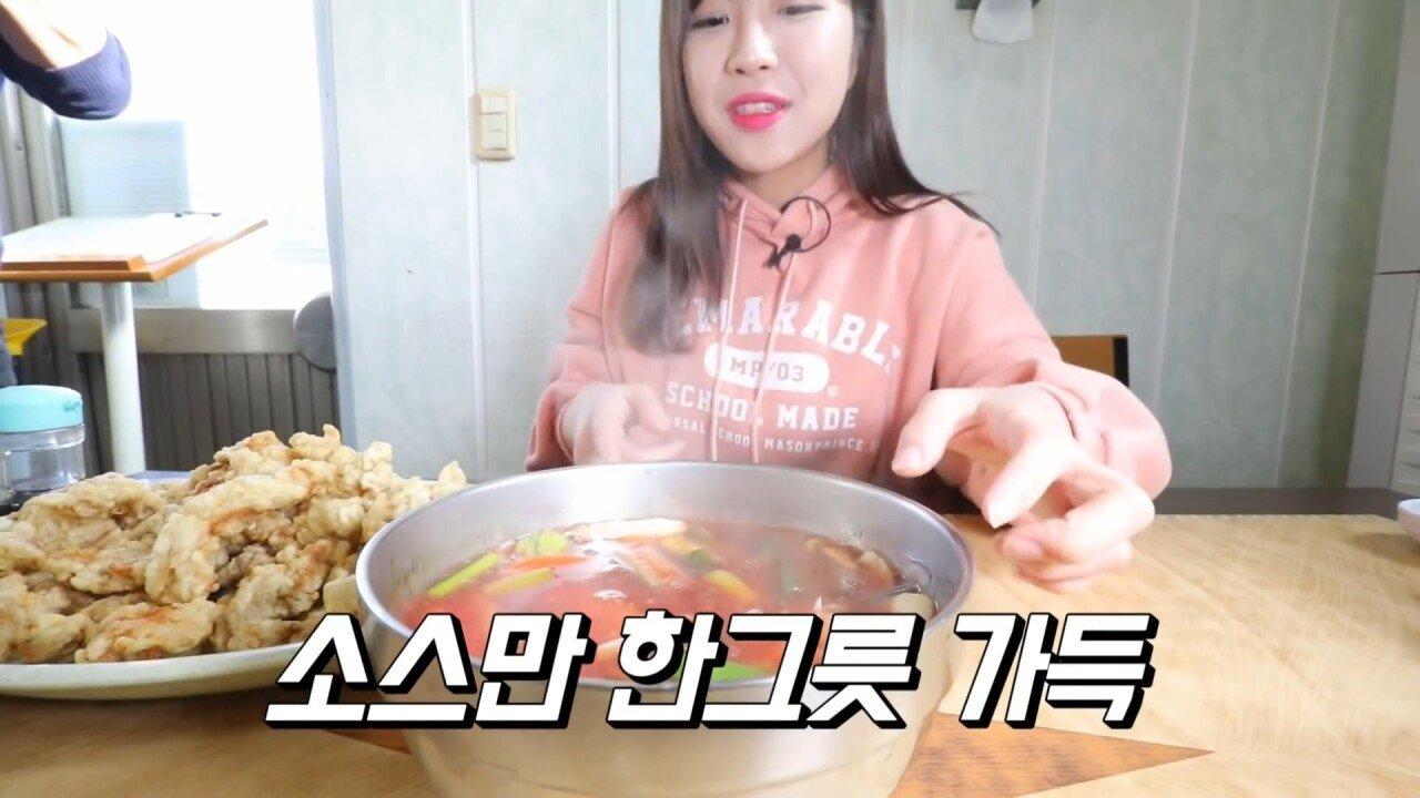 통영2탄 하루에5시간 여는 줄서서 먹는 짬뽕집! 사장님의 주문거부.. Korean mukbang eating show.mp4_20200713_201758.818.jpg 아침이라서 적게 먹었다는 쯔양 한 끼 식사
