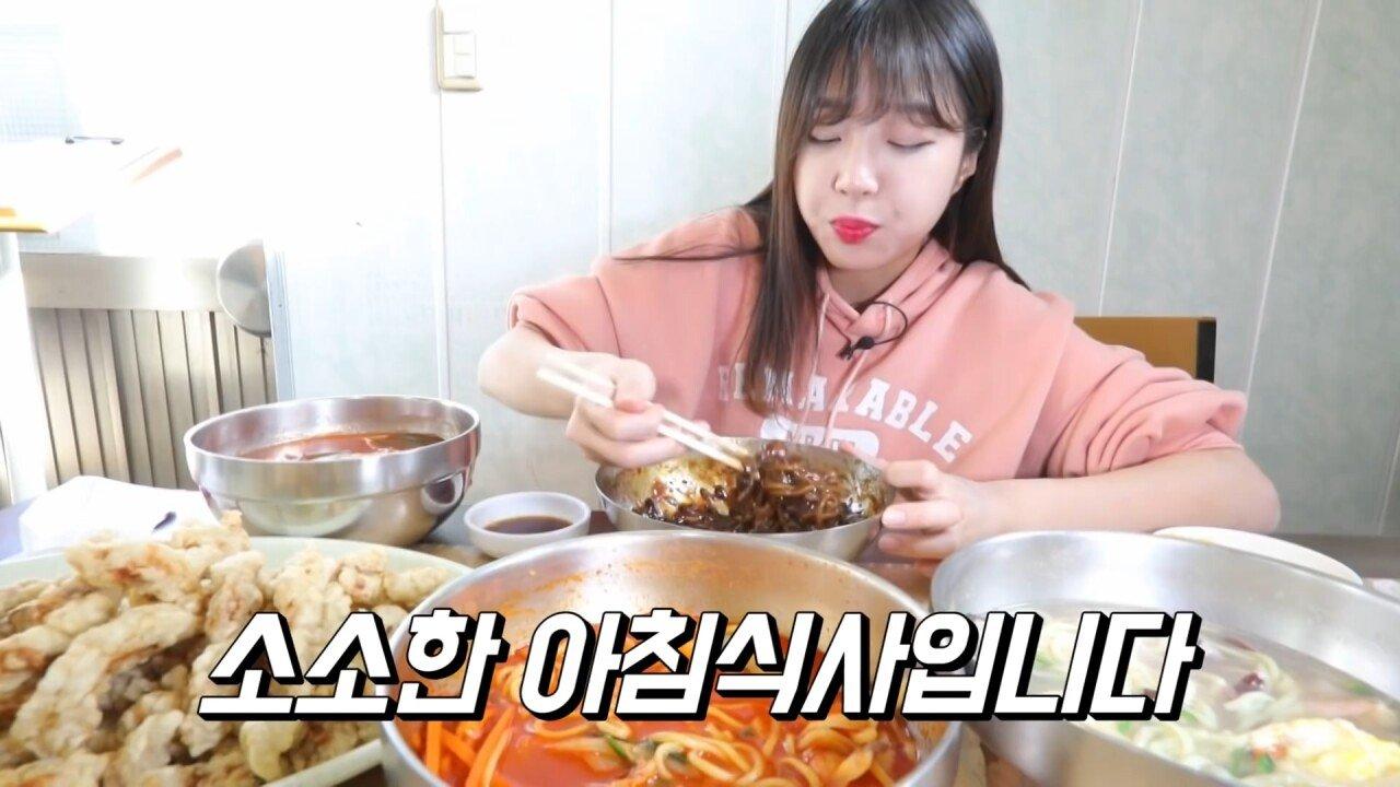 통영2탄 하루에5시간 여는 줄서서 먹는 짬뽕집! 사장님의 주문거부.. Korean mukbang eating show.mp4_20200713_201834.603.jpg 아침이라서 적게 먹었다는 쯔양 한 끼 식사