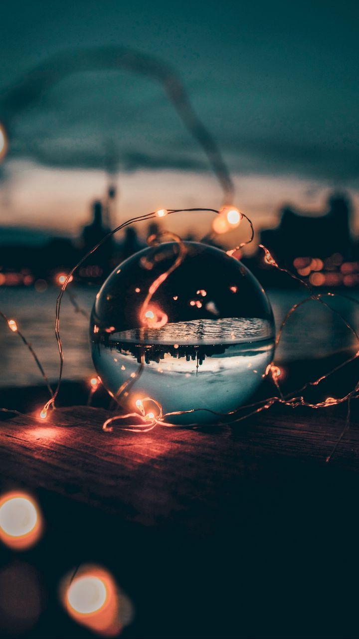 Download wallpaper 720x1280 ball, garland, glass, transparent, sunset samsung galaxy mini s3, s5, neo, alpha, sony xperia c.jpg